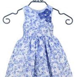 Pippa & Julie white and blue floral formal dress 4